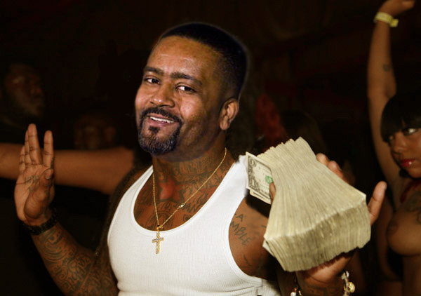Frank Haith on a recruiting visit to the strip club.