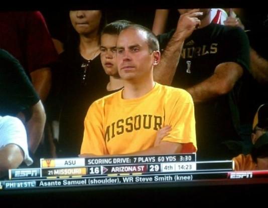 Kansas City sports radio personality Dave Borchardt watches Mizzou lose to Arizona St.
