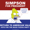 Abe Simpson presidential campaign poster