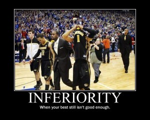 Demotivational poster about Mizzou's inability to succeed.