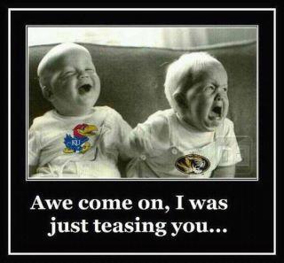 Baby Jayhawk Makes Baby Mizzou Cry
